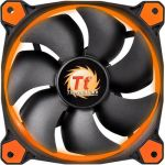 Thermaltake Riing 12 High Static Pressure LED Radiator Fan - 120 mm - 40.6 CFM - 24.6 dB(A) Noise - Hydraulic Bearing - 3-pin - Orange LED - 4.6 Year Life