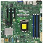 Supermicro X11SSL-F Server Motherboard - Intel Chipset - Socket H4 LGA-1151 - 1 x Bulk Pack - Micro ATX - 1 x Processor Support - 64 GB DDR4 SDRAM Maximum RAM - 2.13 GHz  1.87 GHz  1.60