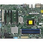 Supermicro X11SAT Workstation Motherboard - Intel Chipset - Socket H4 LGA-1151 - 64 GB DDR4 SDRAM Maximum RAM - DIMM  UDIMM - 4 x Memory Slots - Gigabit Ethernet - 2 x USB 3.0 Port - 1