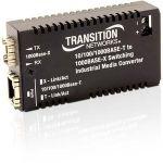 Transition Networks Hardened Mini 10/100/1000 Bridging Media Converter - 1 x Network (RJ-45) - 1 x LC Ports - DuplexLC Port - Multi-mode - Gigabit Ethernet - 1000Base-SX  10/100/1000Bas