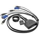 Tripp Lite 2-Port USB/VGA Cable KVM Switch with Cables and USB Peripheral Sharing - 2 Computer(s) - 1 Local User(s) - 0 Remote User(s) - 2048 x 1536 - 0 - 2 x USB1 x VGA - Desktop
