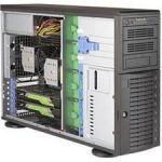 Supermicro SuperWorkstation SYS-7049A-T Dual LGA 3647 1200W 4U Rackmount/Tower Workstation Barebone System (Black)