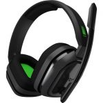 Astro A10 Headset - Stereo - Mini-phone - Wired - 32 Ohm - 20 Hz - 20 kHz - Over-the-ear  Over-the-head - Binaural - Circumaural - Green  Gray