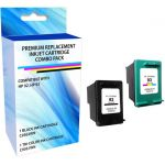 eReplacements C9513BN-ER Remanufactured Ink Cartridge Replacement for HP 92/93 Black and Tricolor Combo Pack - Inkjet - 230 Pages Tri-color  200 Pages Black