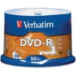 Verbatim AZO DVD-R 4.7GB 16X with Branded Surface - 50pk Spindle - 120mm - Single-layer Layers - 2 Hour Maximum Recording Time