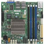 Supermicro A2SDi-4C-HLN4F Server Motherboard - Intel Chipset - Socket BGA-1310 - Intel Atom C3558 - 256 GB DDR4 SDRAM Maximum RAM - DIMM  UDIMM - 4 x Memory Slots - Gigabit Ethernet - 8