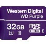 WD Purple WDD032G1P0A 32 GB Class 10/UHS-I (U1) microSDHC - 100 MB/s Read - 60 MB/s Write - 2 Year Warranty