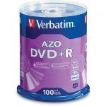 Verbatim 95098 100PK DVD+R 16X 4.7GB BRANDED SPINDLE