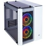 Corsair CC-9011137-WW Crystal 280X Computer CaseWhite - Tempered Glass - Micro ATX Motherboard Supported