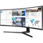 Samsung C49J890DKN 49in Double Full HD (DFHD) Curved Screen LED LCD Monitor 32:9 3840 x 1080 5ms 120Hz Refresh Rate HDMI DP