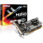 MSI NVIDIA GeForce 210 Graphic Card - 1 GB DDR3 SDRAM - 589 MHz Core - 64 bit Bus Width - PCI Express 2.0 x16 - HDMI - VGA - DVI