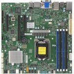Supermicro X11SCZ-F Workstation Motherboard - Intel Chipset - Socket H4 LGA-1151 - 64 GB DDR4 SDRAM Maximum RAM - DIMM  UDIMM - 4 x Memory Slots - Gigabit Ethernet - 6 x USB 3.1 Port -