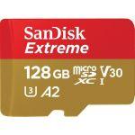SanDisk SDSQXA1-128G Extreme MicroSDXC UHS-I U3 A2Upto 160MB/s read and 90MB/s write. 4K UHD USH Class 3