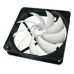 Arctic Cooling F12 120 mm Standard Case Fan1350 RPM 3-Pin-Connector 12V Black/White