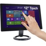 DoubleSight Displays DS-12UT 12in LCD Touchscreen Monitor - TAA Compliant - Capacitive - 1366 x 768 - WXGA - 250 Nit - USB - Black - 3 Year