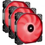 Corsair Air Series AF120 LED (2018) Red 120mm Fan Triple Pack - 3 Pack - 120 mm - 52 CFM - 26 dB(A) Noise - Hydraulic Bearing - 3-pin - Red LED - 4.6 Year Life