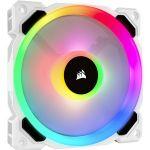 Corsair CO-9050091-WW LL Series LL120 RGB 120mm Dual Light Loop RGB LED PWM Fan Single Pack White