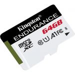 Kingston High Endurance 64 GB Class 10/UHS-I (U1) microSDXC - 95 MB/s Read - 30 MB/s Write - 2 Year Warranty