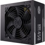 Cooler Master MWE WHITE MPE-4501-ACAAW Power Supply - Internal - 120 V AC  230 V AC Input - 450 W / 5 V DC  3.3 V DC  12 V DC  12 V DC  5 V DC - 1 +12V Rails - 1 Fan(s) - 80% Efficiency
