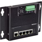 TRENDnet 5-Port Industrial Gigabit PoE+ Wall-Mounted Front Access Switch - 5 Ports - 2 Layer Supported - Twisted Pair - DIN Rail Mountable  Wall Mountable