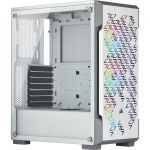 Corsair CC-9011174-WW iCUE 220T White RGB Airflow Tempered Glass Mid-Tower Smart Case