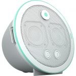 POW Audio Una U1-4 Portable Bluetooth Speaker System - 10 W RMS - Snow - 70 Hz to 20 kHz - Battery Rechargeable