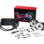 Asus ROG STRIX LC 240 RGB All-In-One Liquid CPU Cooler Aura Sync Dual ROG 120mm Fans Black