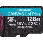 Kingston Canvas Go! Plus 128 GB Class 10/UHS-I (U3) microSDXC - 170 MB/s Read - 90 MB/s Write - Lifetime Warranty