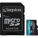 Kingston Canvas Go! Plus 256 GB Class 10/UHS-I (U3) microSDXC - 170 MB/s Read - 90 MB/s Write - Lifetime Warranty