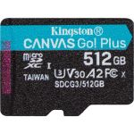 Kingston Canvas Go! Plus 512 GB Class 10/UHS-I (U3) microSDXC - 170 MB/s Read - 90 MB/s Write - Lifetime Warranty