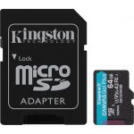 Kingston Canvas Go! Plus 64 GB Class 10/UHS-I (U3) microSDXC - 170 MB/s Read - 70 MB/s Write - Lifetime Warranty