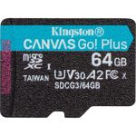 Kingston Canvas Go! Plus 64 GB Class 10/UHS-I (U3) microSDXC - 170 MB/s Read - 70 MB/s Write - Lifetime Warranty
