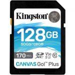 Kingston Canvas Go! Plus 128 GB Class 10/UHS-I (U3) SDXC - 170 MB/s Read - 90 MB/s Write