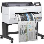 Epson SureColor T-Series T3475 Inkjet Large Format Printer - 24in Print Width - Color - Printer - 4 Color(s) - 25 Second Color Speed - 2400 x 1200 dpi - USB - Ethernet - Plain Paper  Ro