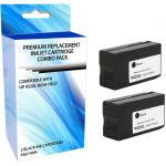 eReplacements 3YP21AN-ER Remanufactured High Yield Ink Cartridge Replacement for HP 952XL Black Ink 2 Pack - Inkjet - High Yield - 2000 Pages Black (Per Cartridge) - 2 Pack