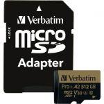 Verbatim Pro+ 512 GB Class 10/UHS-I (U3) microSDXC - 100 MB/s Read - 60 MB/s Write - 666x Memory Speed - Lifetime Warranty