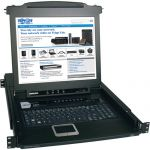 ^Tripp Lite B020-008-17 8-Port 1U Console KVM Switch with 17in LCD Steel Housing