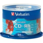 Verbatim 95005 CD-R 700MB 52X Silver Inkjet Printable 50 Pack Spindle