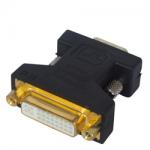 DVI-I Female to VGA Male Adapter Gold-PlatedBlack