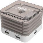 Unitek Y-2162 USB 4-Port BC 1.2 Smart Charging HubStation with Cable Roller Function
