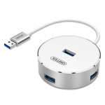 Unitek Y-3197 USB3.0 4-Port Aluminum Hub White