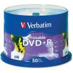Verbatim DVD+R 4.7GB 16X White Inkjet Printable with Branded Hub - 50pk Spindle - 4.7GB - 50 Pack