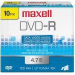 Maxell 16x DVD-R Media - 4.7GB - 10 Pack