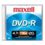 Maxell DVD Recordable Media - DVD-R - 16x - 4.70 GB - 1 Pack Jewel Case - 120mm - 2 Hour Maximum Recording Time
