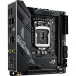 Asus ROG Strix H470-I Gaming Mini-ITX Motherboard Intel 10th Gen CPU LGA 1200 DDR4 2933MHz (up to 64GB) 2x M.2 Slots USB 3.2