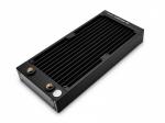 EKWB EK-CoolStream PE 240 Dual Radiator Copper Fins 90% Copper Tubing H90 Brass Chambers 40mm Height 165mL Capacity 2x G1/4