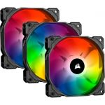 Corsair CO-9050094-WW SP120 RGB PRO 120mm RGB ProPerformance LED Fan 1400RPM 3-Pin Triple Pack with Lighting Node Core