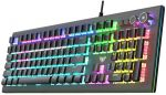 AULA S2096 PC Mechanical wired  game keyboard 104keys mixed lightBlack