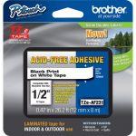 Brother TZE-AF231 Adhesive Acid-Free TZ TapeThermal Transfer Black Print on White Tape