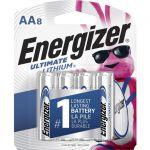 Energizer L91SBP-8 Ultimate Lithium AA Batteries8 Pack